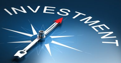 Needle of a compass pointing to the word investment 3D Render suitable for financial risk management concept.