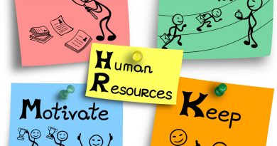 Illustration of human resources functions explained in four steps.